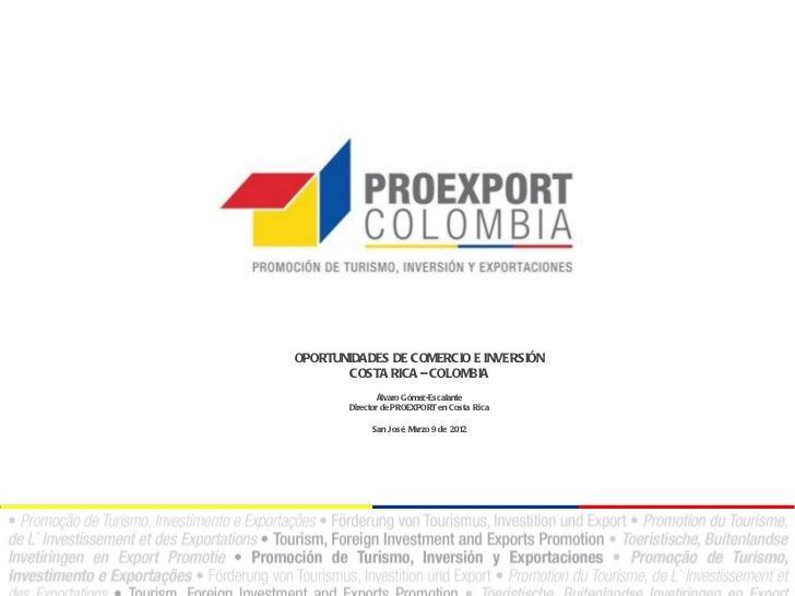 Proexport oportunidades de comercio e inversión