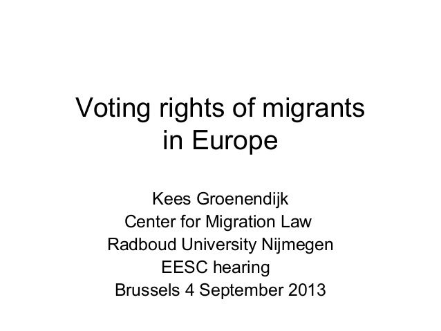 Voting rights of migrants in Europe