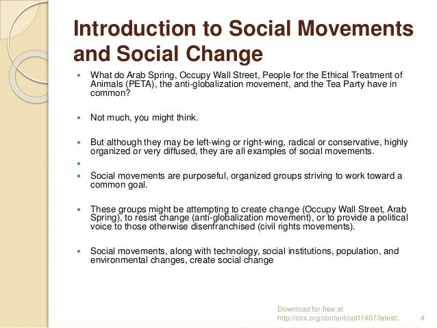 Social Change And Social Movements Coursework Service