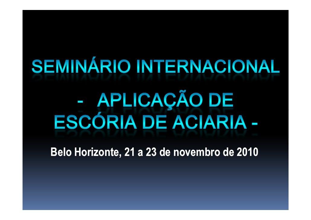 Belo Horizonte, 21 a 23 de novembro de 2010