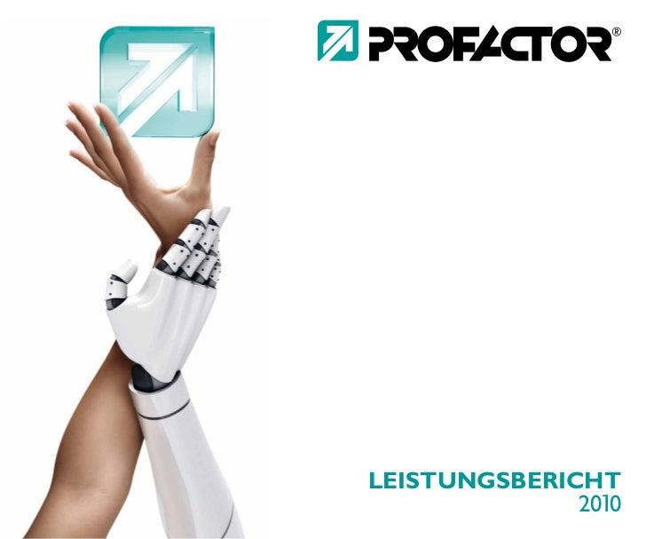 PROFACTOR Leistungsbericht 2010