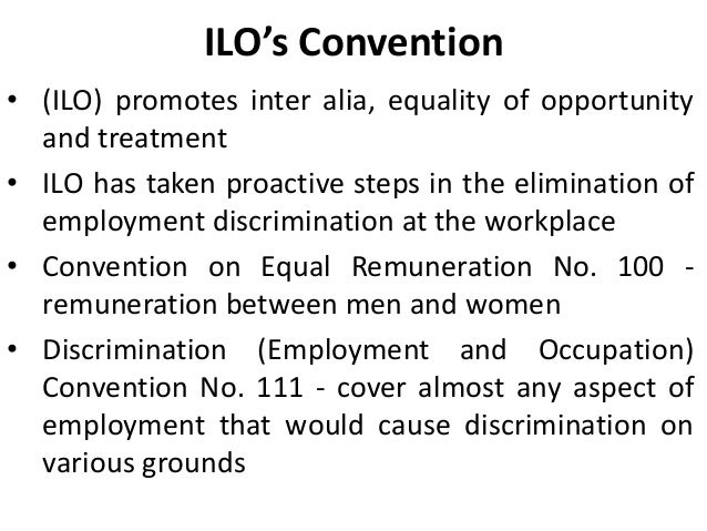 eliminate gender discrimination in the workplace This research includes gender discrimination in the workplace literature  any  preference, importance or elimination made on the basis of gender or sex of an.