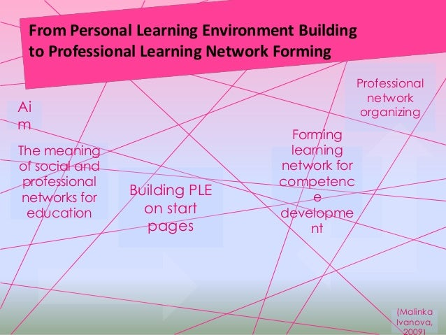 From Personal Learning Environment Buildingto Professional Learning Network FormingAimForminglearningnetwork forcompetence...