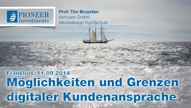 Prof. Tim Bruysten  richtwert GmbH  Mediadesign Hochschule  Frankfurt, 11.09.2014  Möglichkeiten und Grenzen  digitaler Ku...