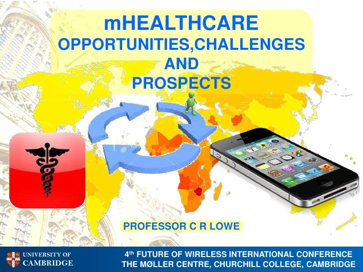 mHEALTHCARE         OPPORTUNITIES,CHALLENGES                   AND               PROSPECTS                 PROFESSOR C R L...