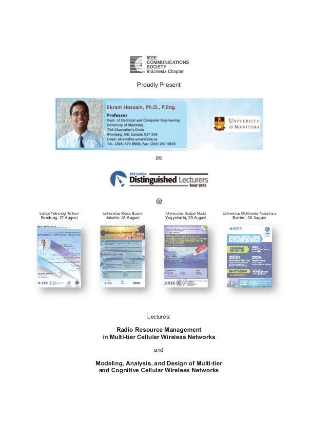 Prof Ekram Hossain on DLT 2013 in Indonesia