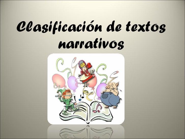 Clasificación de Textos Narrativos