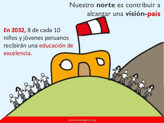 Nuestro norte es contribuir aalcanzar una visión-paíswww.ensenaperu.orgEn 2032, 8 de cada 10niños y jóvenes peruanosrecibi...