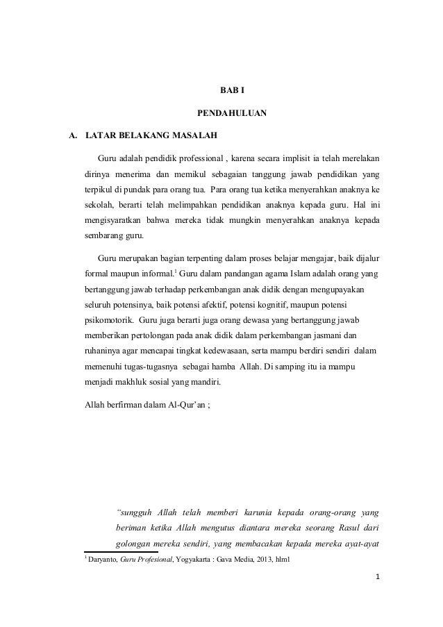 Profesionalisme guru dalam islam