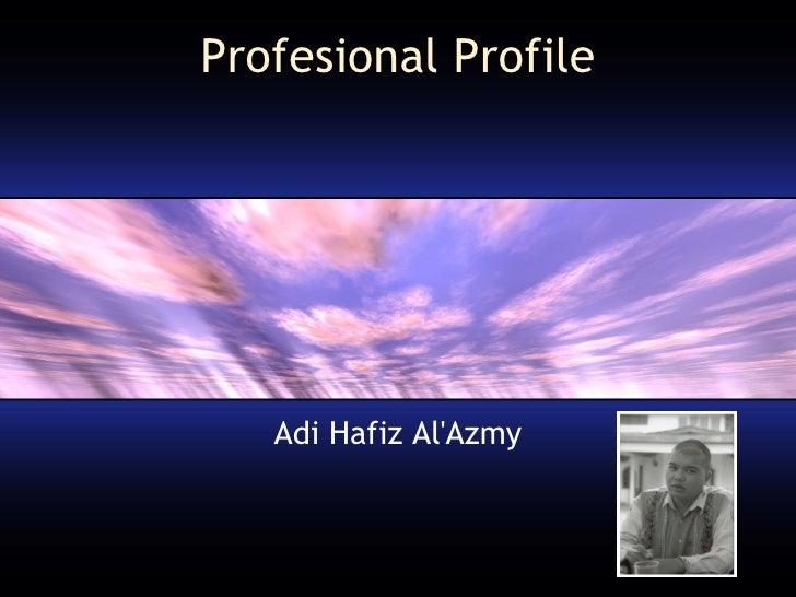 Profesional Profile