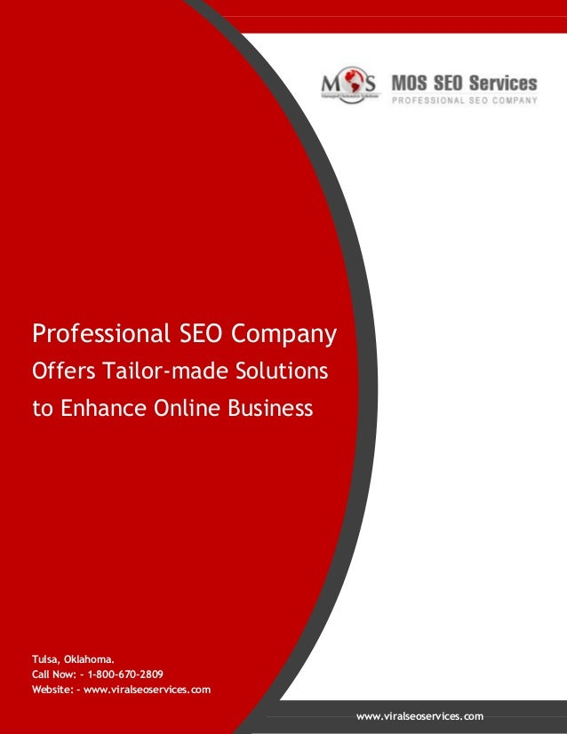 Professional SEO Company Offers Tailor-made Solutions to Enhance Online Business