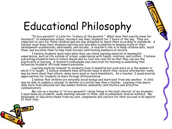 the ten educational philosophies and educational The following are some suggestions for you to consider as you develop and write your own educational philosophy it is important to be aware of your own educational philosophy since it helps you focus on why you make the decisions which you make when you plan for your lessons and implement these lessons.