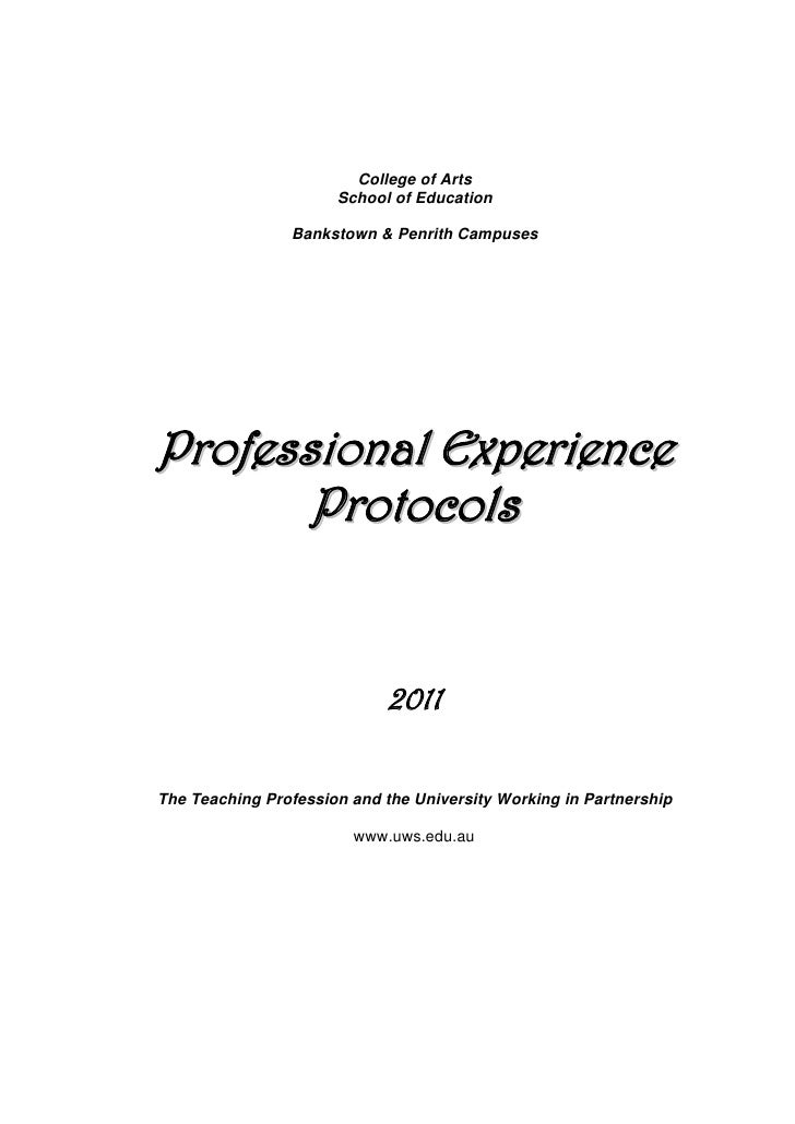 Professional%20 experience%20protocols2011 1