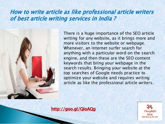 Article writing service india
