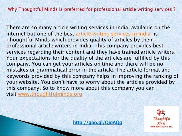 Professional article writing services zambia