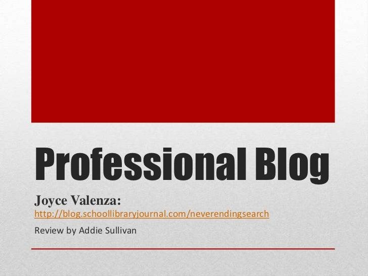 Professional Blog Presentation