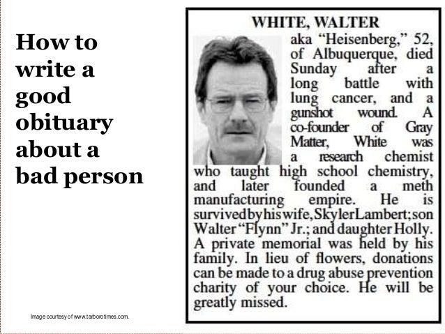 Obituary writing service