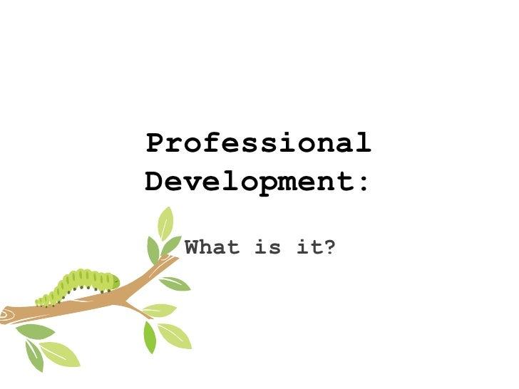 Professional development new