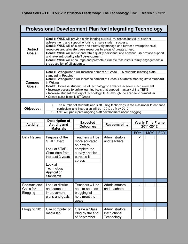 professional development plan sample