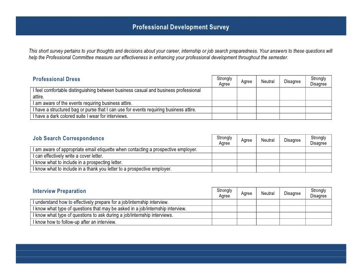 Professional Development Survey Questionairre