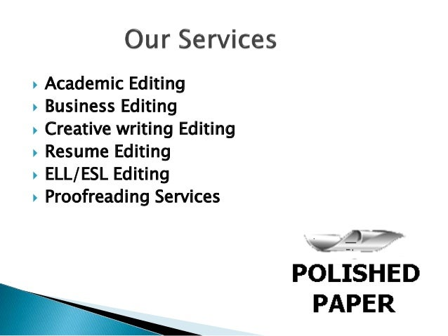 Academic proofreading services and editing services for