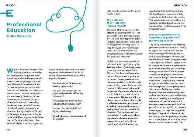 Professional know-how needs innovation. Erly Stage Magazine