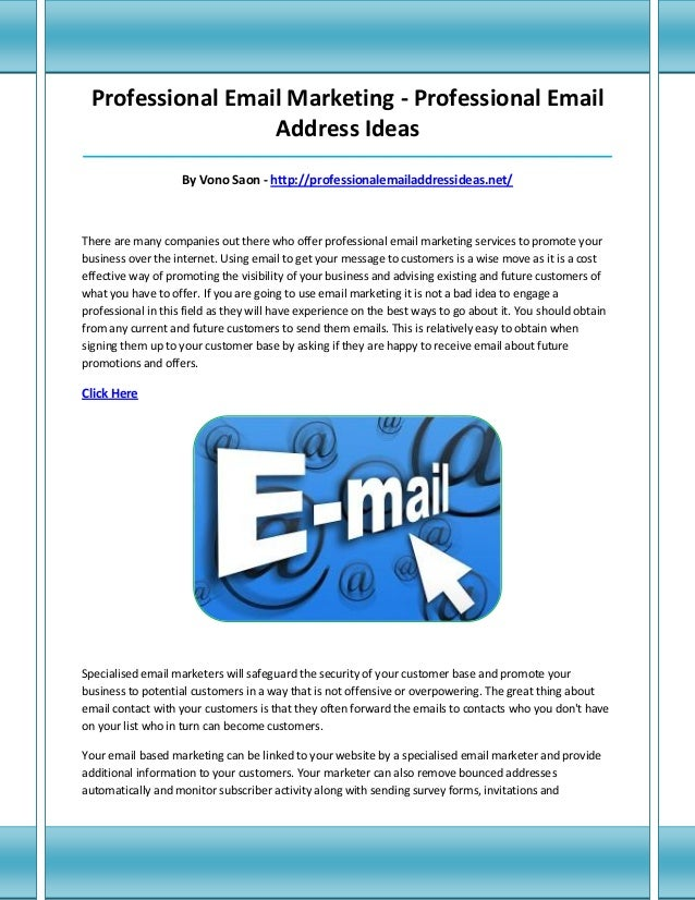 Email Address Ideas
