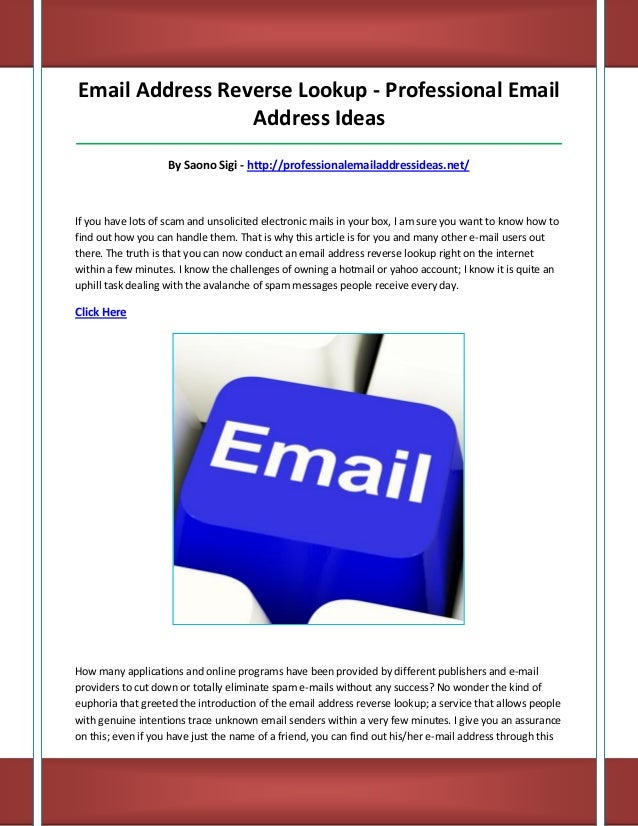 Professional email address ideas wmSkep9M