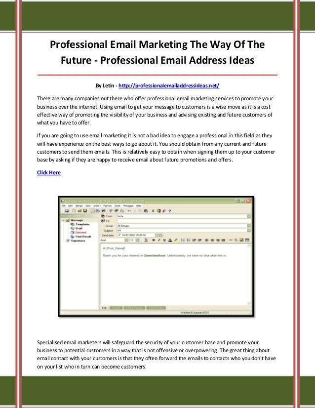 Professional email address ideas c6K2m8Jh
