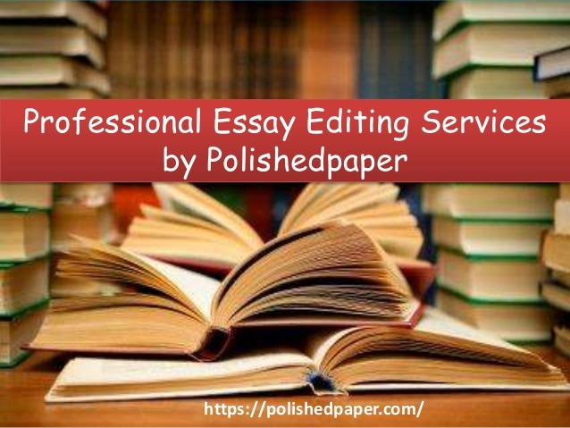 Professional editing services guidelines