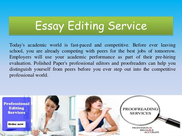 Best essay editing services