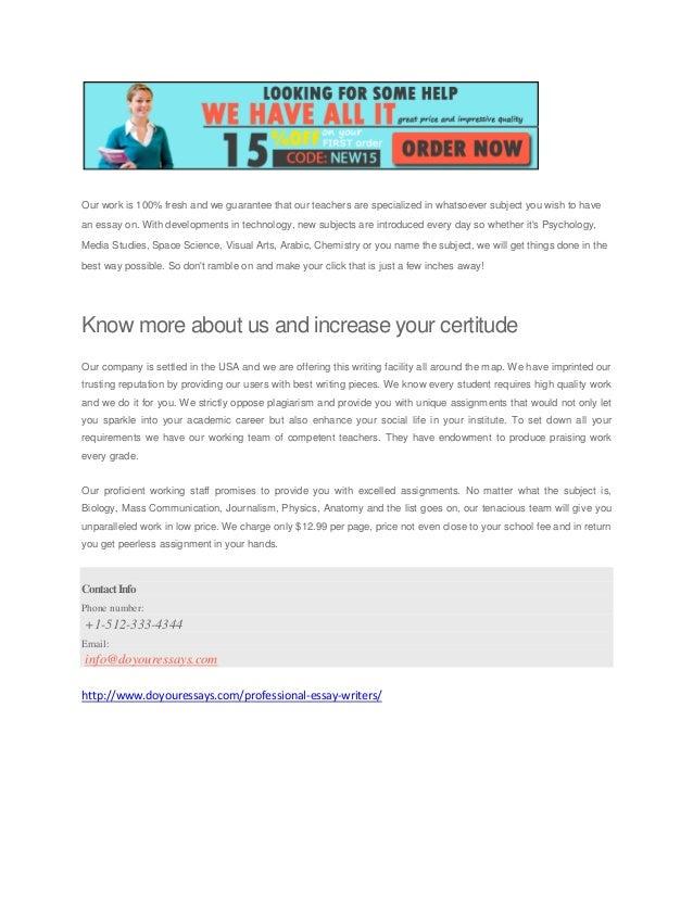 Professional Essays Writers Website For School