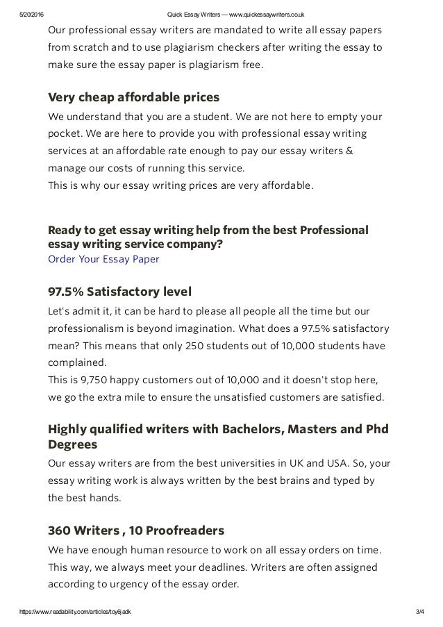 Best essay writers in uk