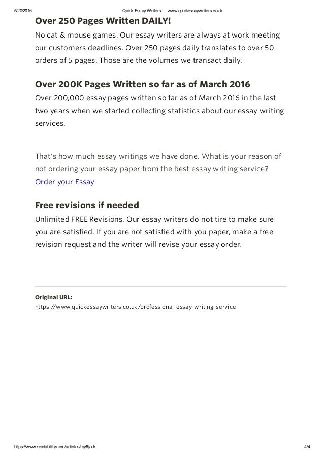 writers essay Top essay writers for top grades when you need the best quality, you need to order from the best writers order now no plagiarism you always receive 100% unique essays written due to your personal requirements timely delivery specify the deadline and get your essay done as fast as you need, even in 3 hours.