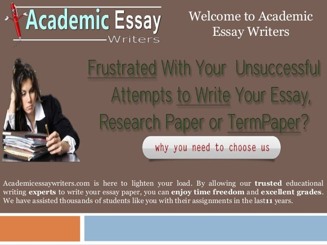 writing academic essays examples