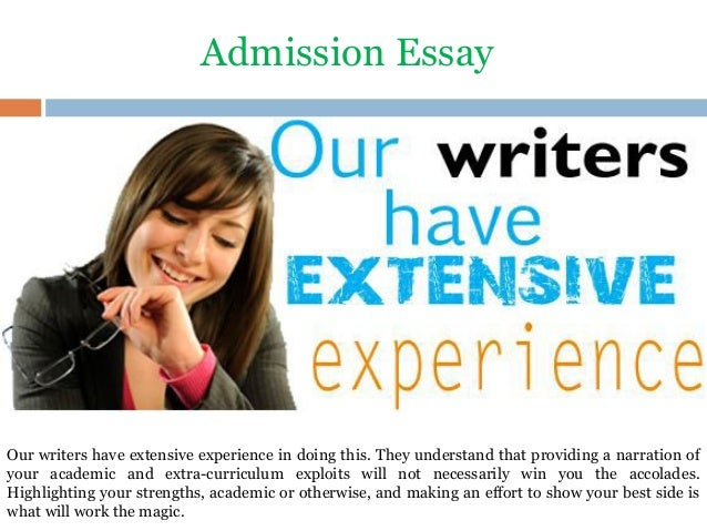 writing admissions essays