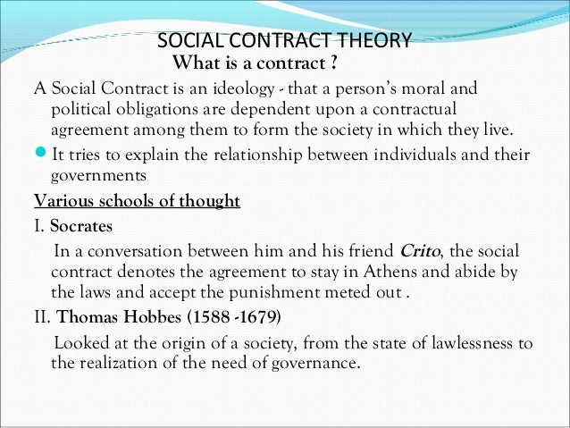 an analysis of the social contract theory by thomas hobbes