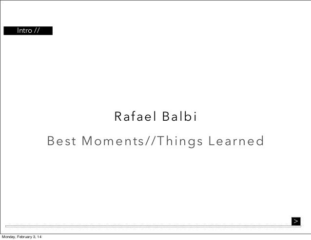 Professional Experience-Rafael Balbi
