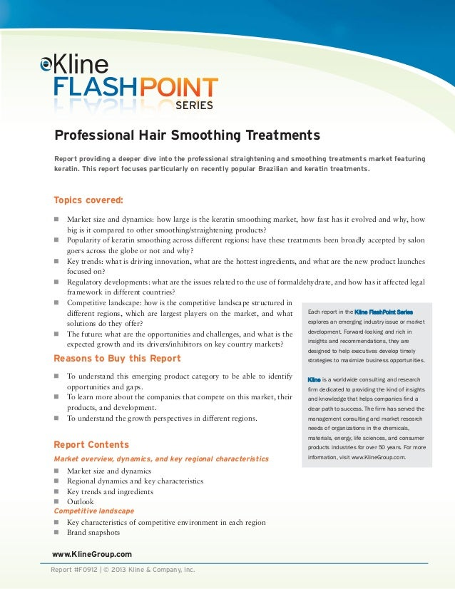 Professional Hair Smoothing Treatments Brochure