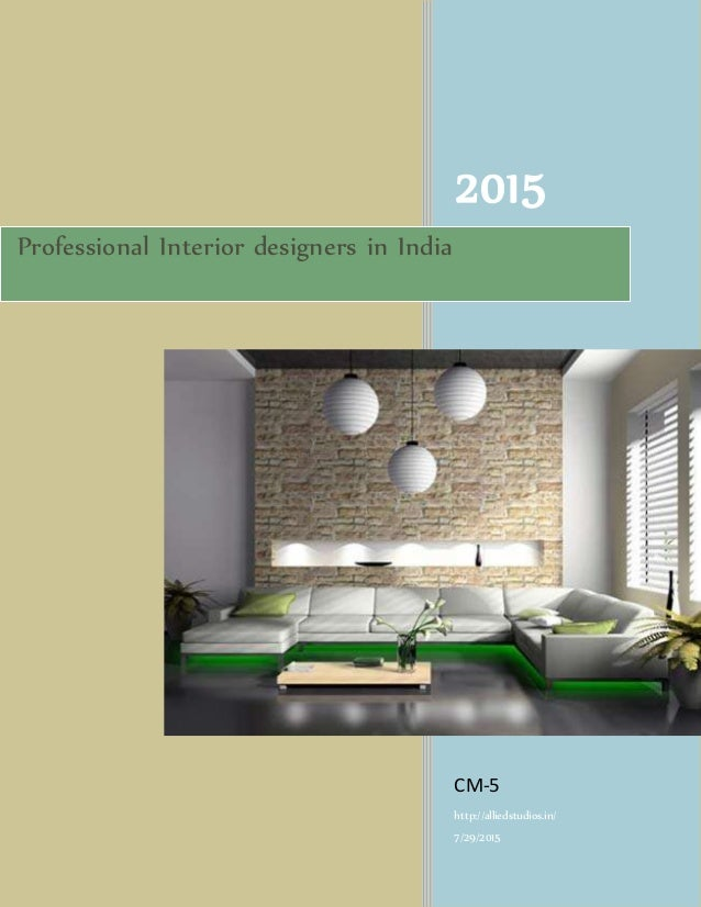 Professional interior designers in india for Professional interior designer