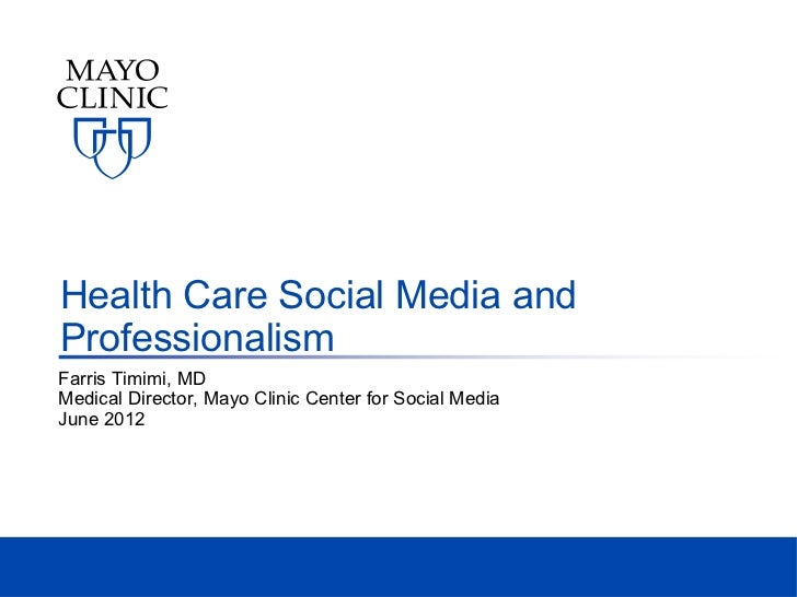 Professionalism and health care social media