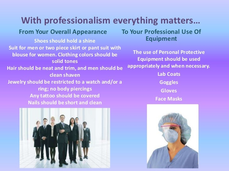 Essay on professionalism in healthcare