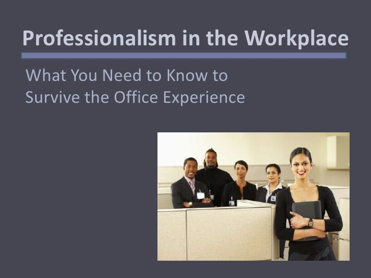 Essay on professionalism in the workplace