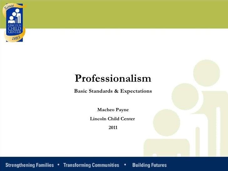 Professionalism nps