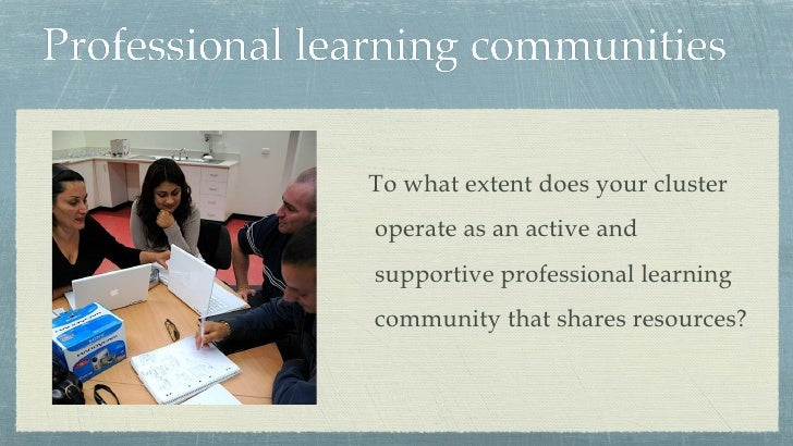 Professional Learning Communities Findings