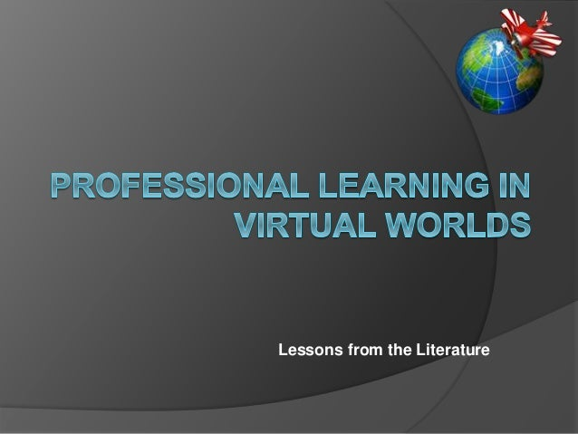 Professional learning in virtual worlds v3