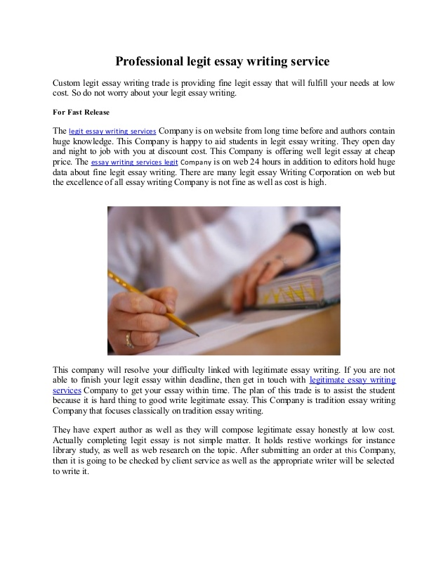 Writing essay company legit