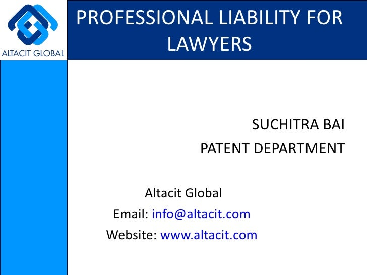 Professional liability for lawyers