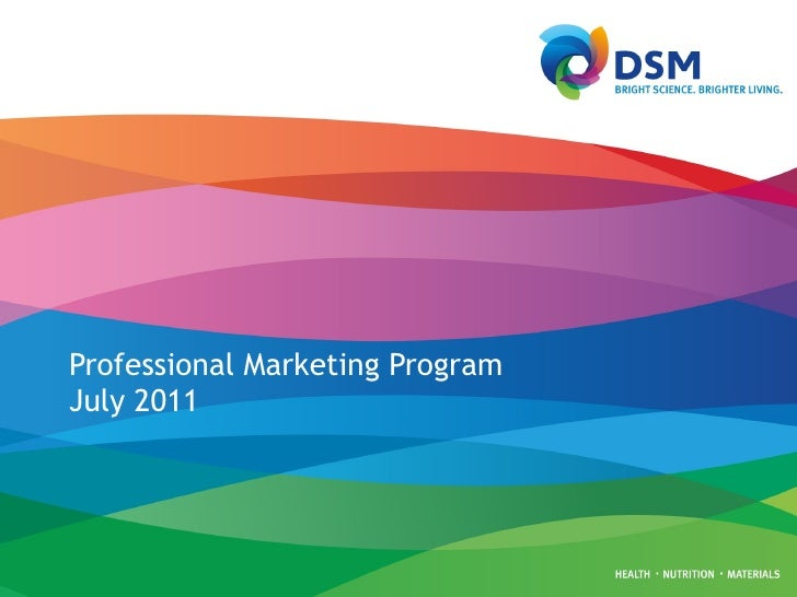 Professional Marketing Program  July 2011
