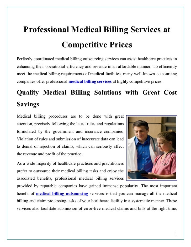 Professional Medical Billing Services at                          Competitive PricesPerfectly coordinated medical billing ...
